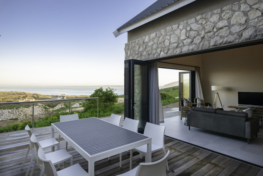 The Shark Bay, private deck, lagoon views, lounge area